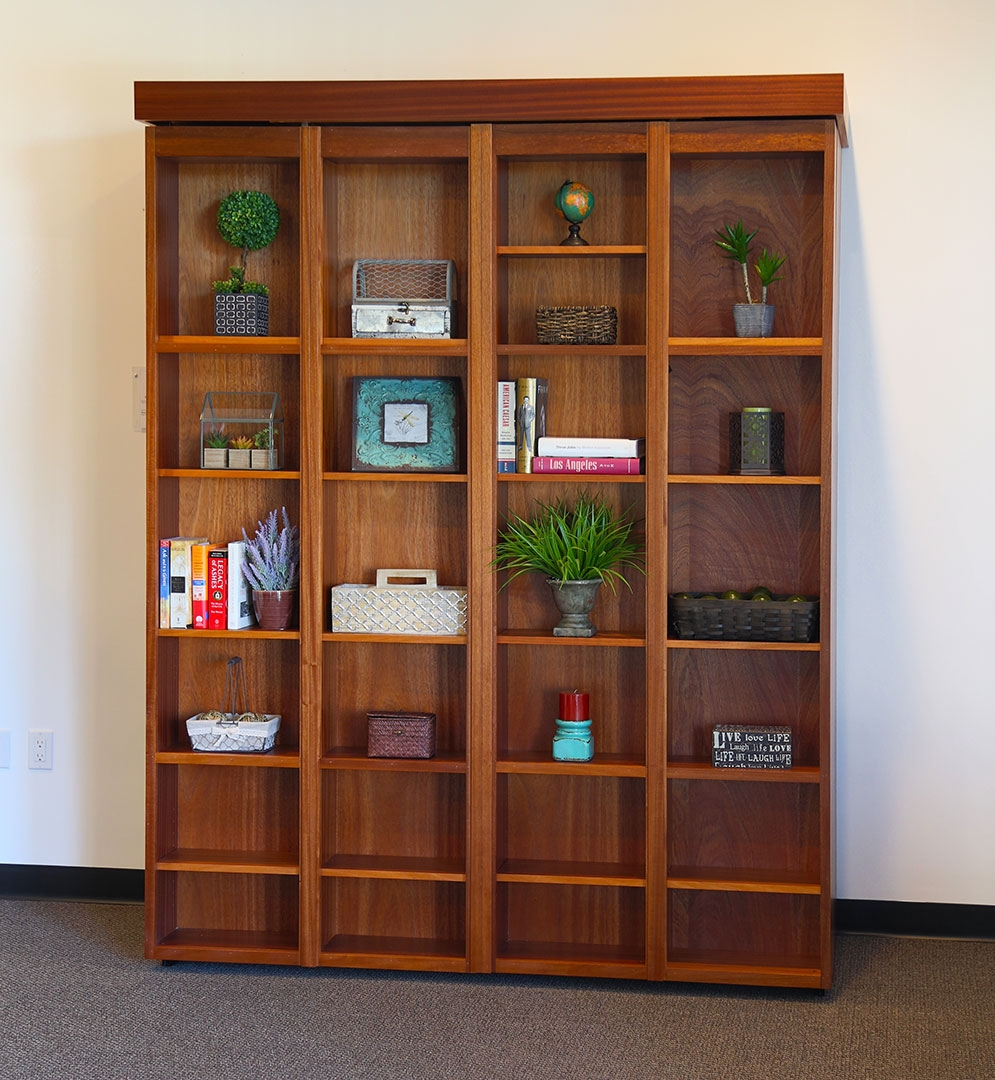 El Segundo California Wall Beds And Murphy Beds Wilding Wallbeds With Regard To Bifold Bookcase (#7 of 15)