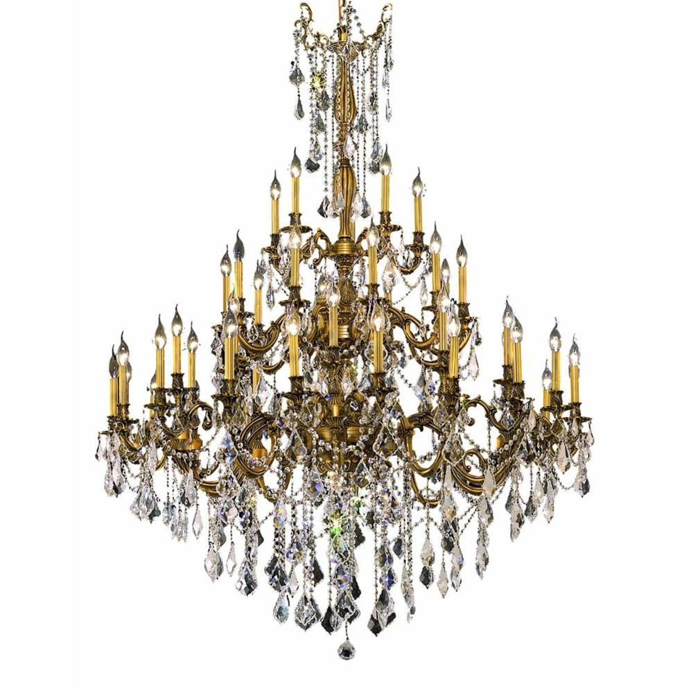 Elegant Lighting 45 Light French Gold Chandelier With Clear In French Gold Chandelier (#4 of 12)