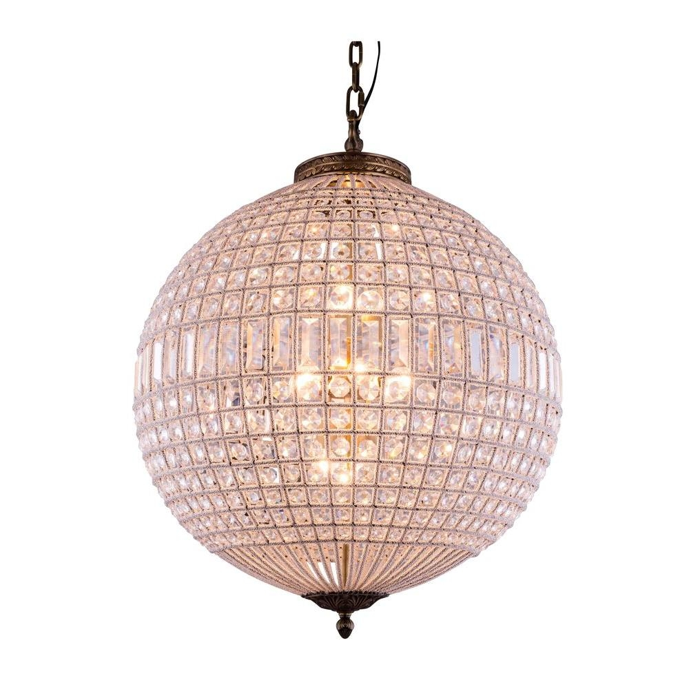Elegant Lighting Olivia 5 Light French Gold Chandelier With Clear Regarding French Gold Chandelier (#5 of 12)