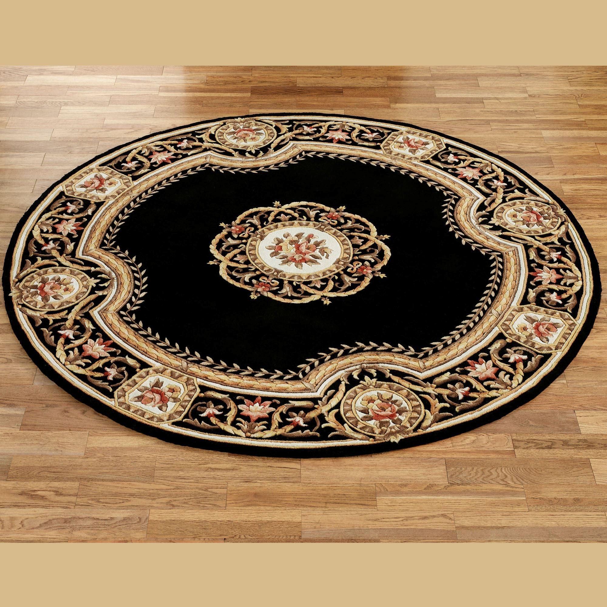 Elegant Medallion Round Wool Area Rugs Pertaining To Round Wool Area Rugs (#7 of 15)
