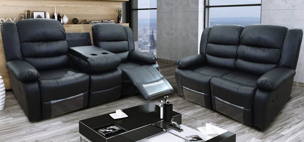 Elegant Recliner Leather Sofa Signature Design Ashley Jayron 2 Pertaining To 2 Seater Recliner Leather Sofas (#5 of 15)
