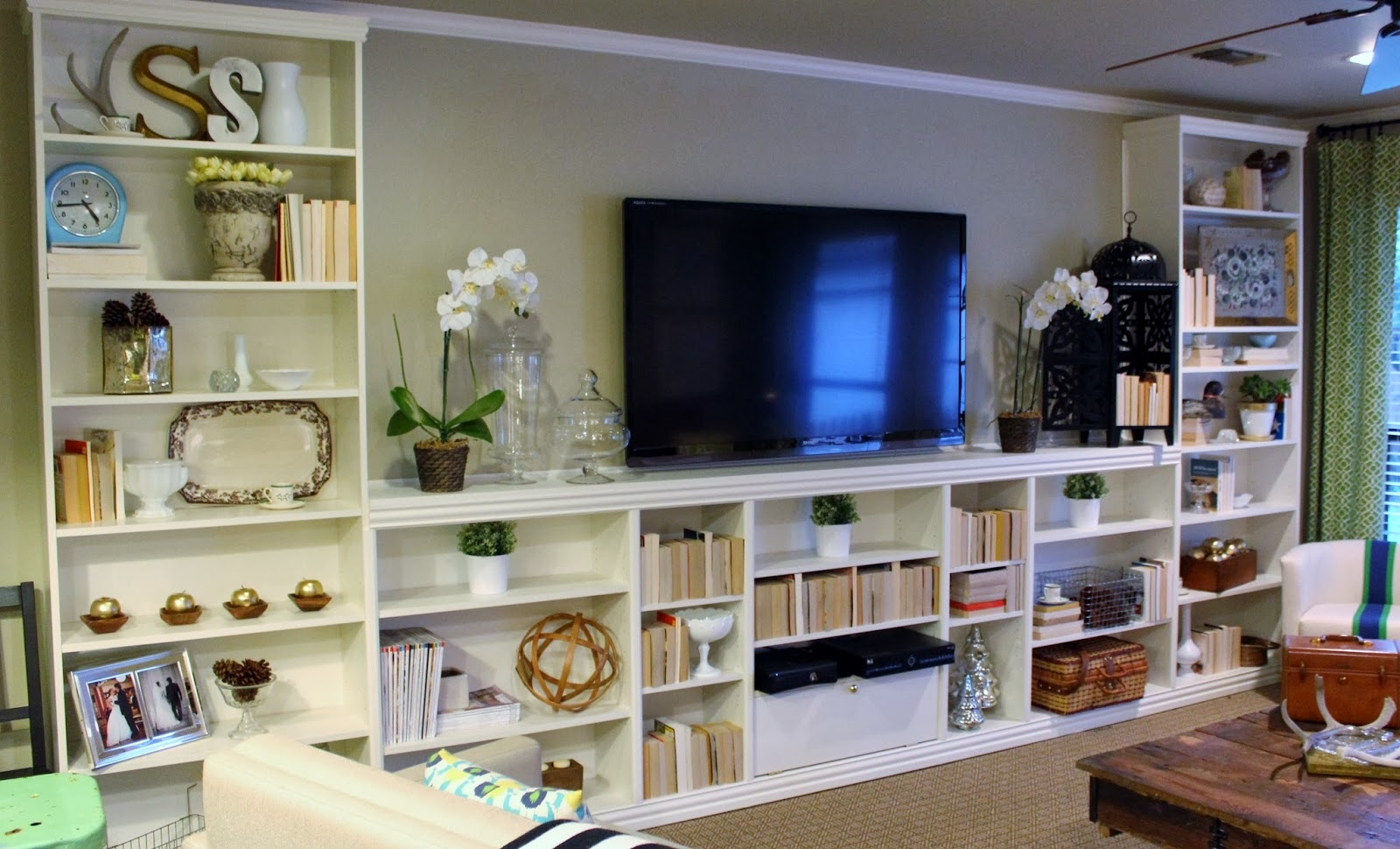 Elementary Organization Billy Bookcase Built In Bonanza For Bookcase With Tv Space (View 8 of 15)