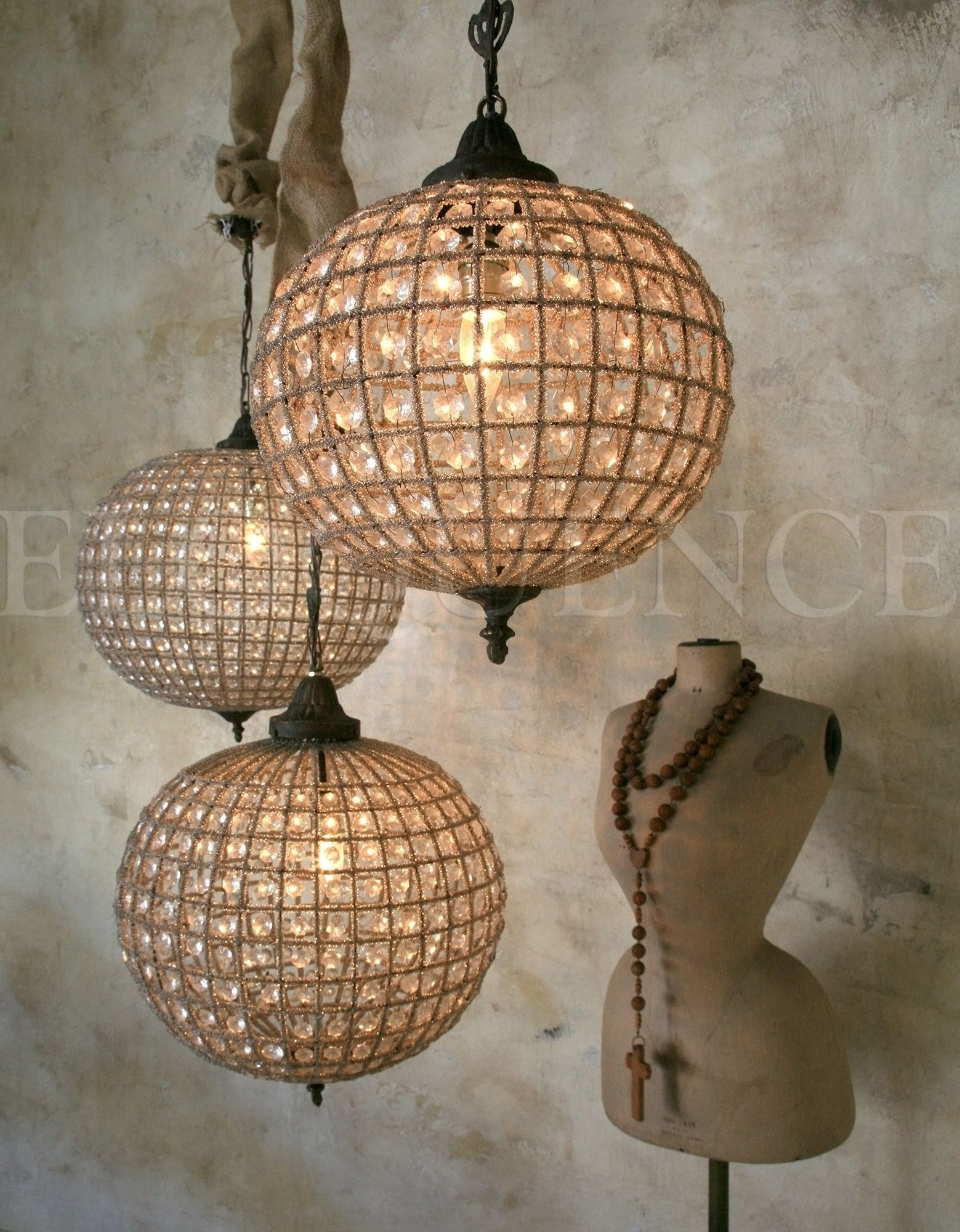 Popular Photo of Eloquence Globe Chandelier