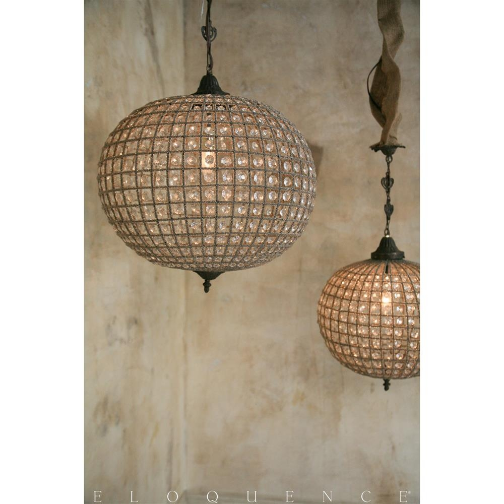 Eloquence Large Globe Chandelier Kathy Kuo For 7 Of 12