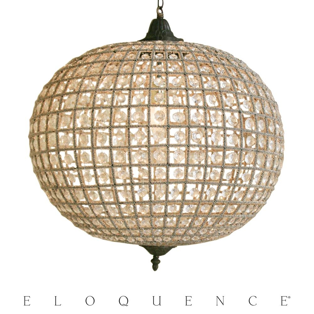 Eloquence Large Globe Chandelier Kathy Kuo Within Large Globe Chandelier (#7 of 12)