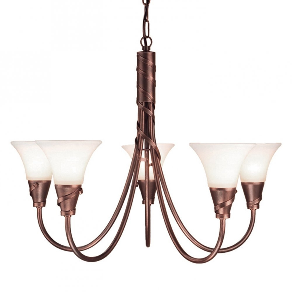 Elstead Lighting Emily 5 Light Copper Chandelier At Love4lighting Regarding Copper Chandeliers (#8 of 12)