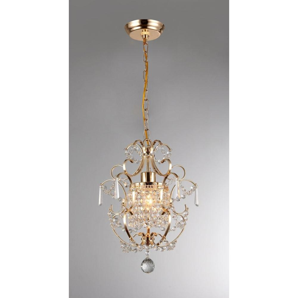 Emily 11 In Gold Indoor Crystal Chandelier With Shade Rl4025gd In Crystal Gold Chandelier (#7 of 12)