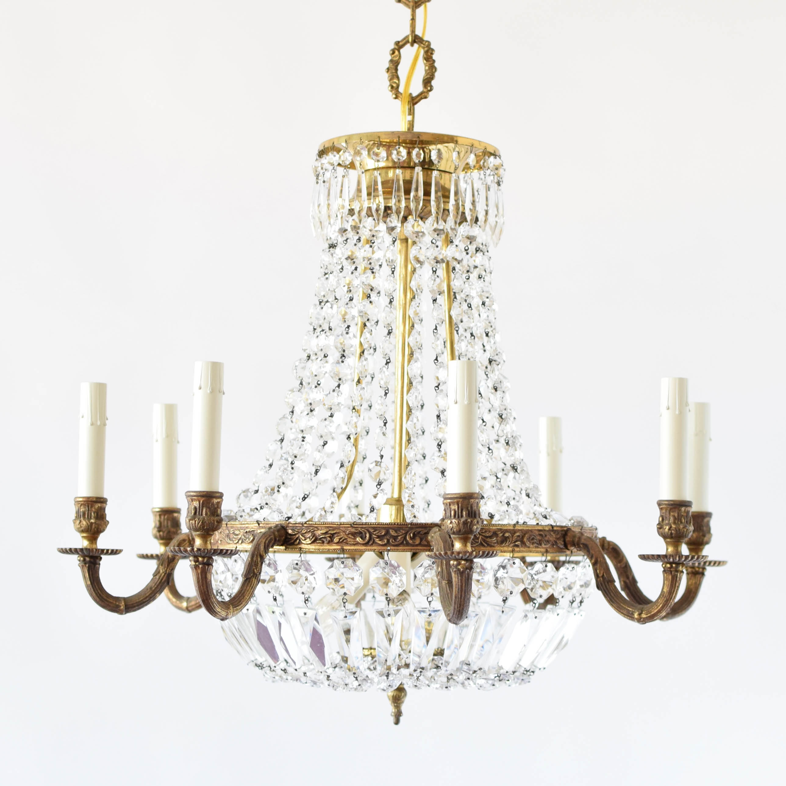 Empire Style Crystal Chandelier The Big Chandelier Throughout Vintage Style Chandelier (#6 of 12)