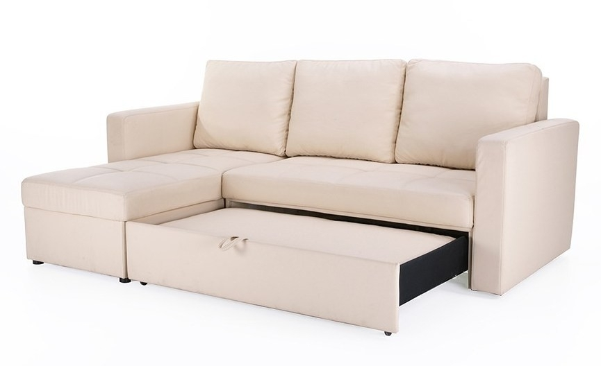 Enchanting Leather Sofa Bed With Storage Leather Sofa With Bed Throughout Leather Sofa Beds With Storage (#4 of 15)