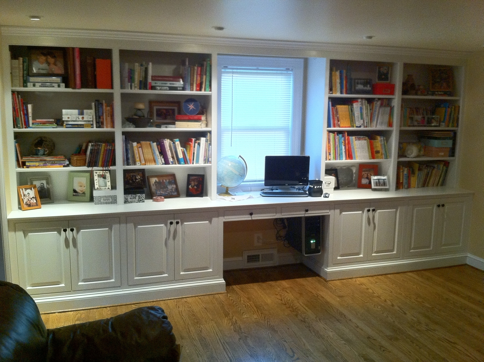 Engaging White Stained Double Bookshelf With Cabinet Base Plus Pertaining To Bookshelf With Cabinet Base (#11 of 15)