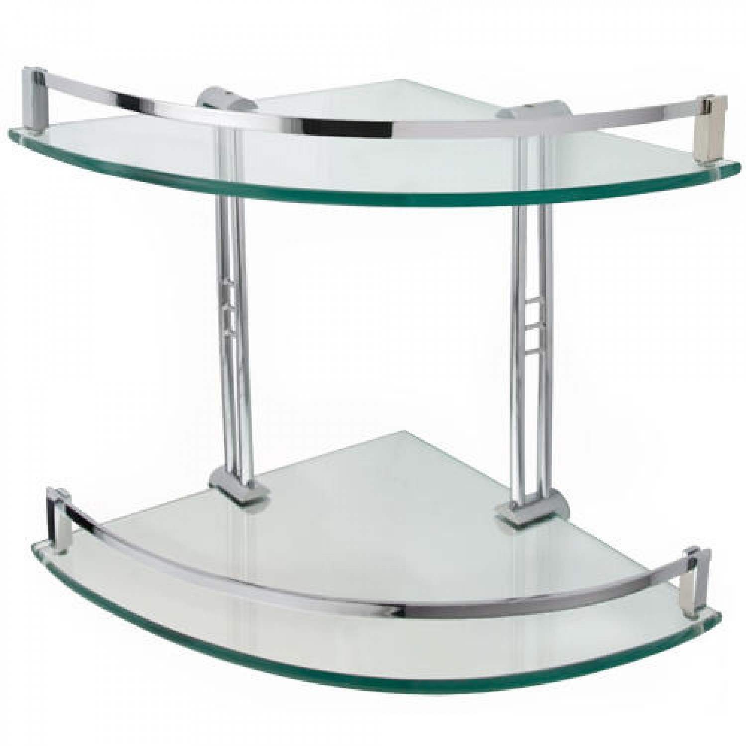 Engel Tempered Glass Corner Shelf Two Shelves Bathroom In Glass Corner Shelves (#7 of 12)