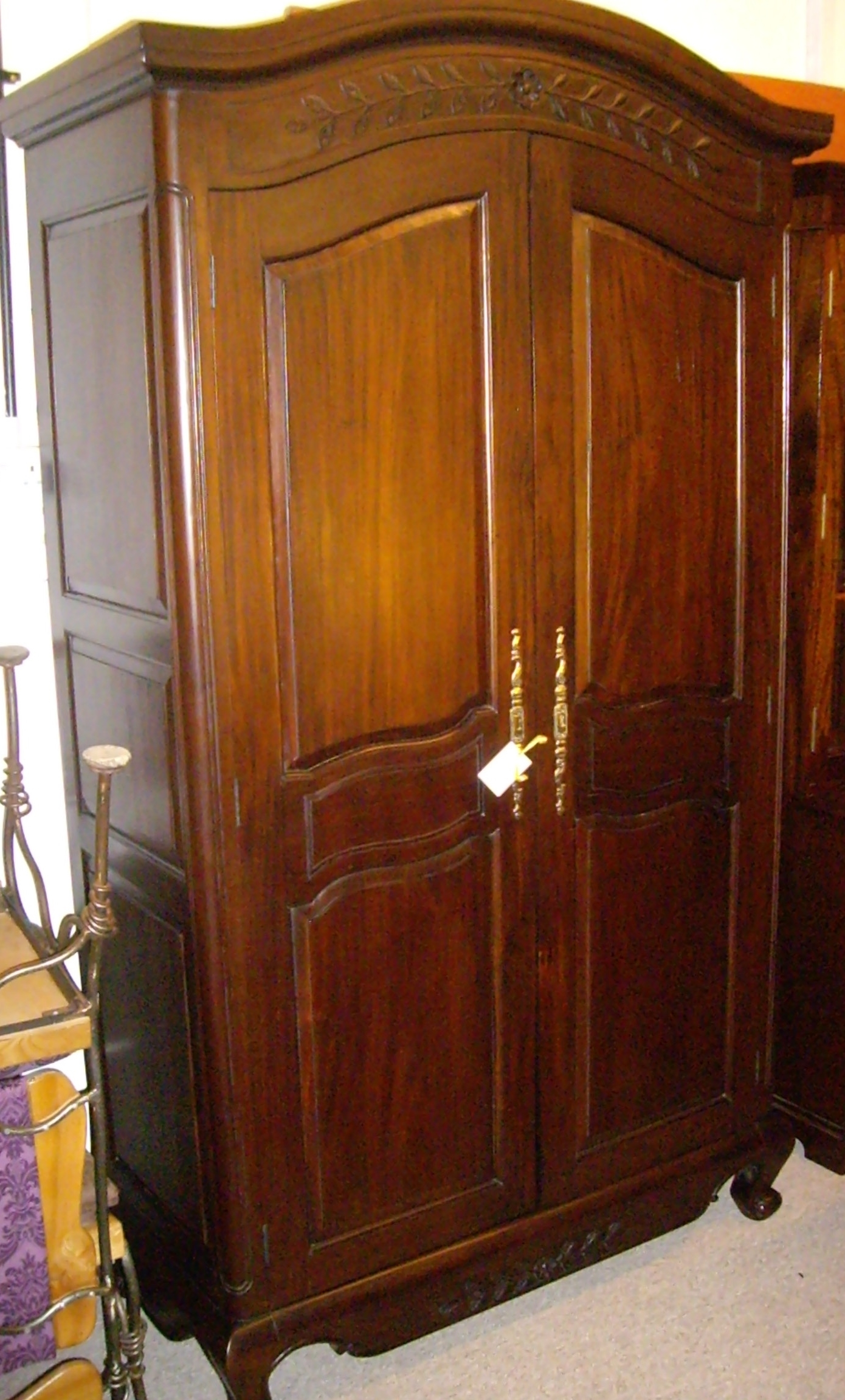 English Scottish Antique Furniture Decorative Antiques With Regard To Solid Dark Wood Wardrobes (View 7 of 15)