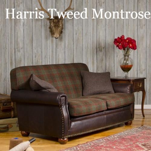 Englishmans Castle Leather Fabric Mix Sofas Leather And Fabric With Tweed Fabric Sofas (View 12 of 15)