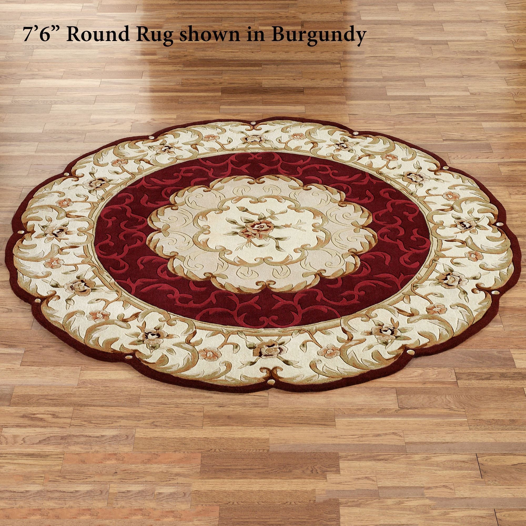Popular Photo of Round Wool Area Rugs