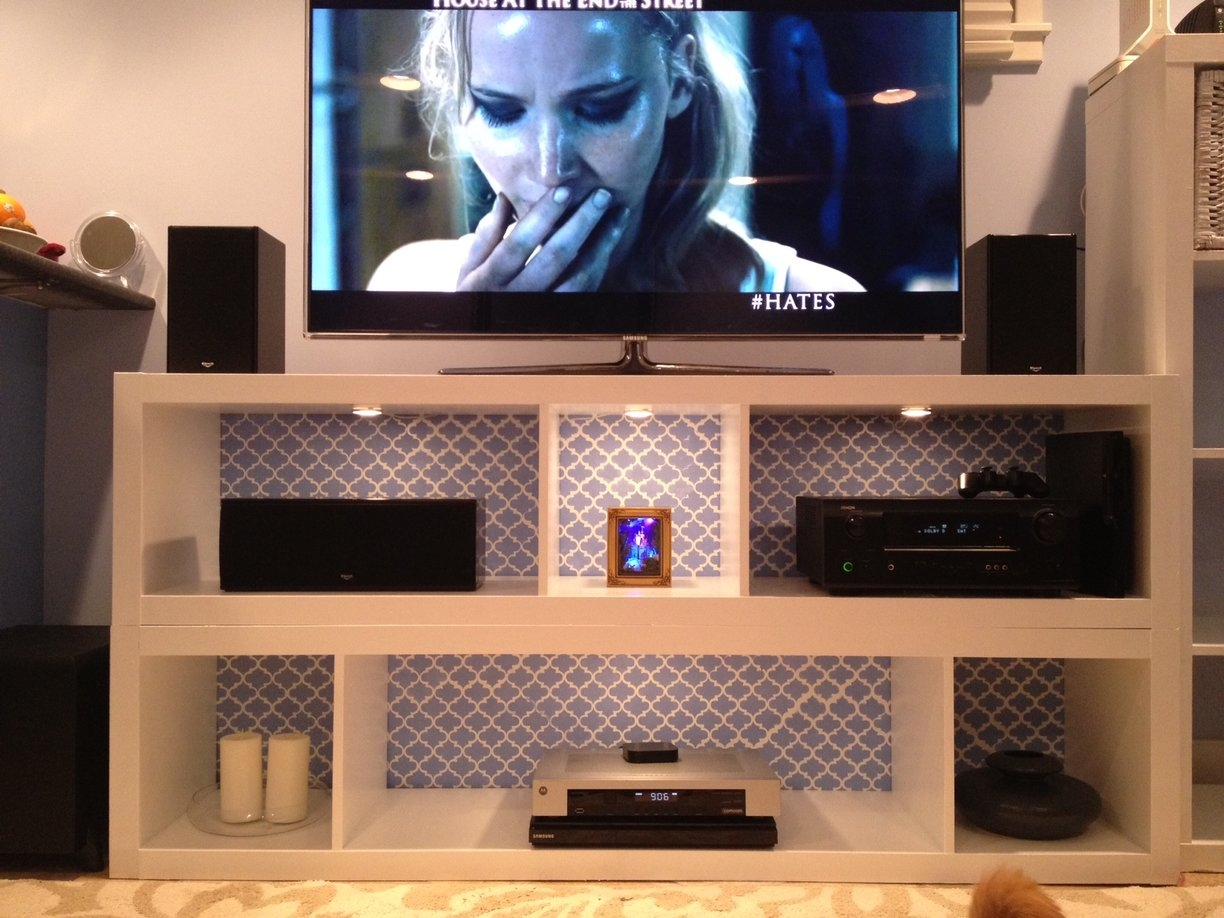 Expedit Bookshelves To Fabulous Tv Stand Ikea Hackers Ikea Pertaining To Bookcase With Tv Shelf (#5 of 15)