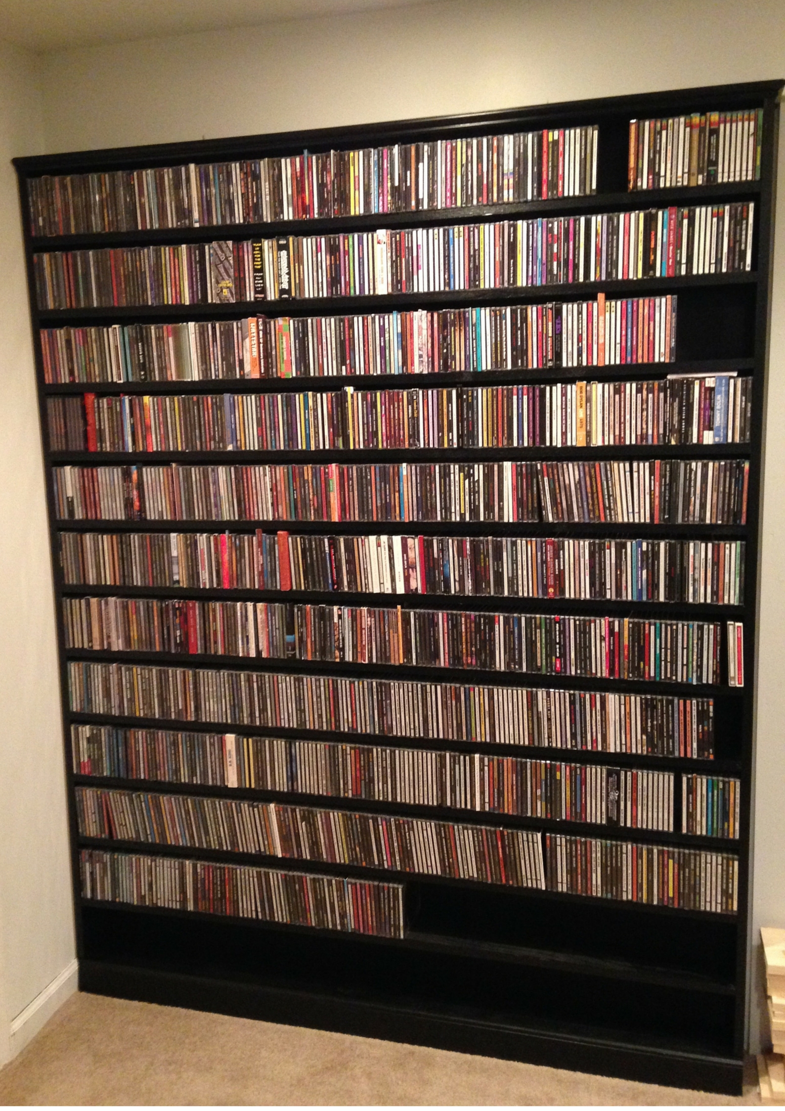 Extended Shelf Life Diy Cd Storage For The Serious Music Throughout Bespoke Cd Storage (#8 of 15)