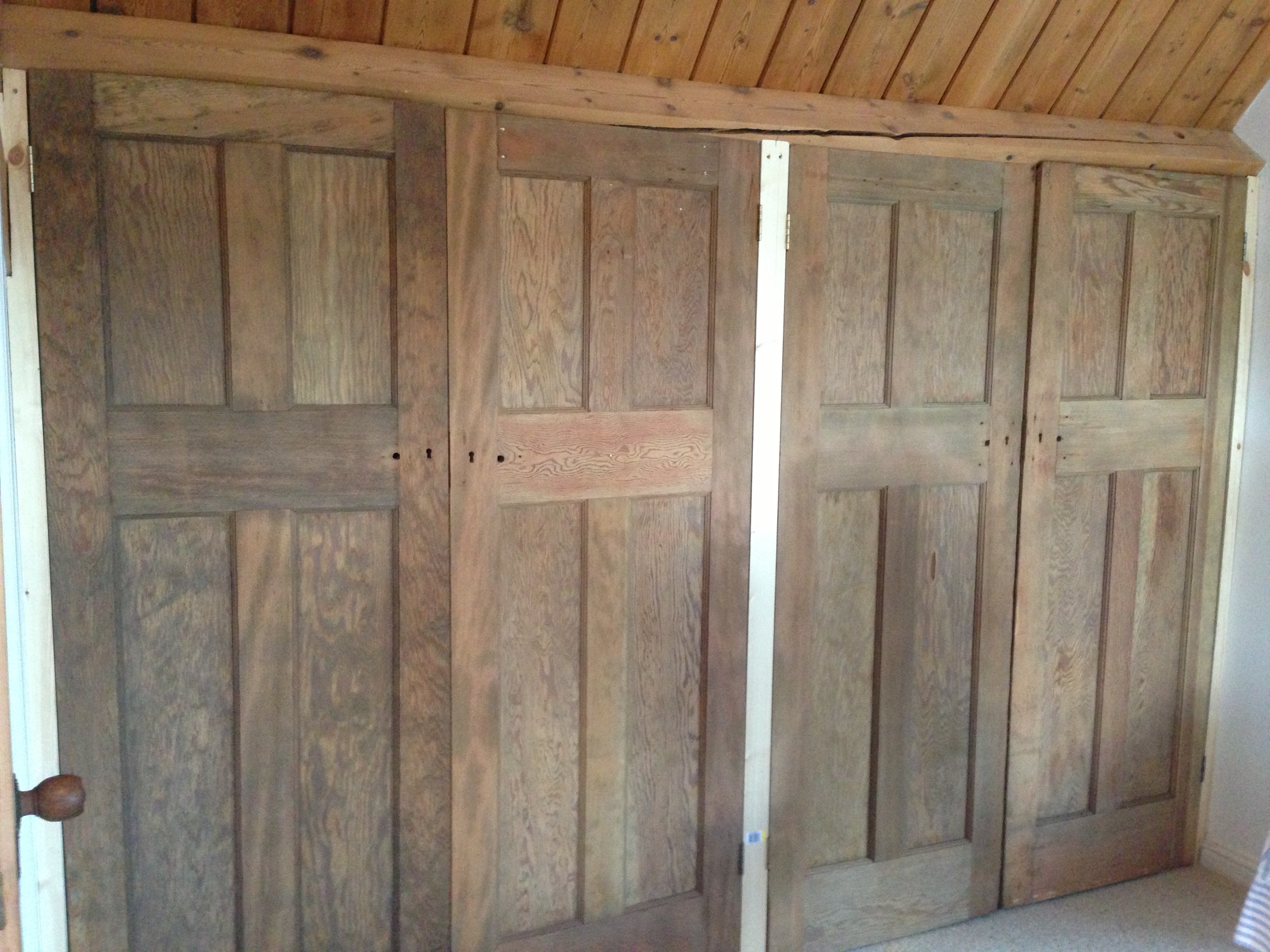 Exterior Of Built In Fitted Wardrobes Made To Fit In With The Within Fitted Wooden Wardrobes (View 8 of 15)