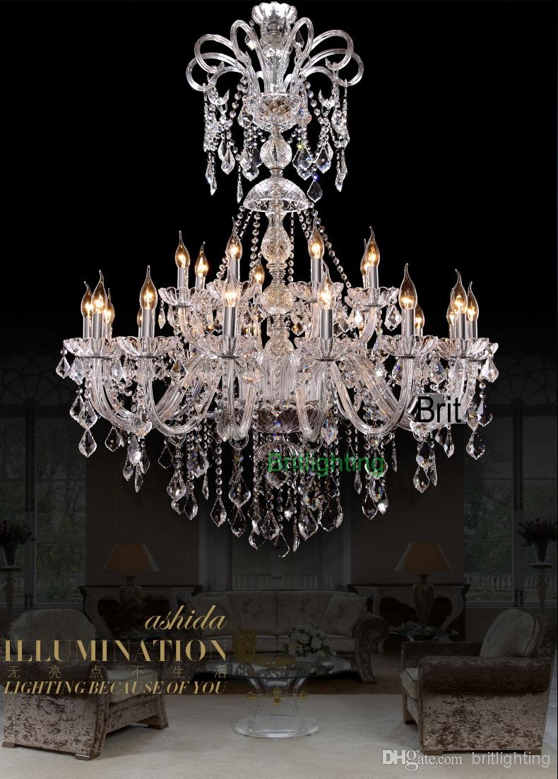 Extra Large Foyer Chandelier Vintage Chandeliers Modern Crystal Regarding Extra Large Crystal Chandeliers (#6 of 12)
