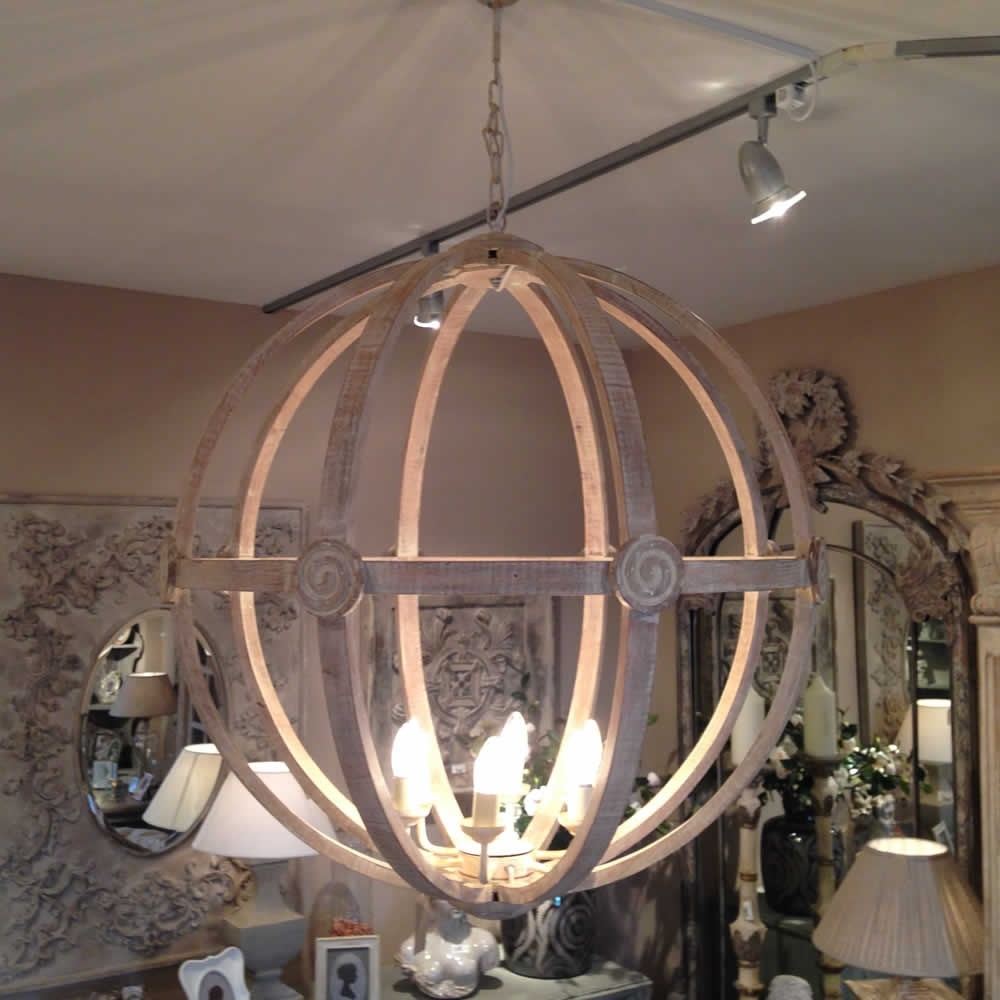Extra Large Round Wooden Orb Chandelier Stunning Rustic Light Intended For Extra Large Chandelier Lighting (#8 of 12)