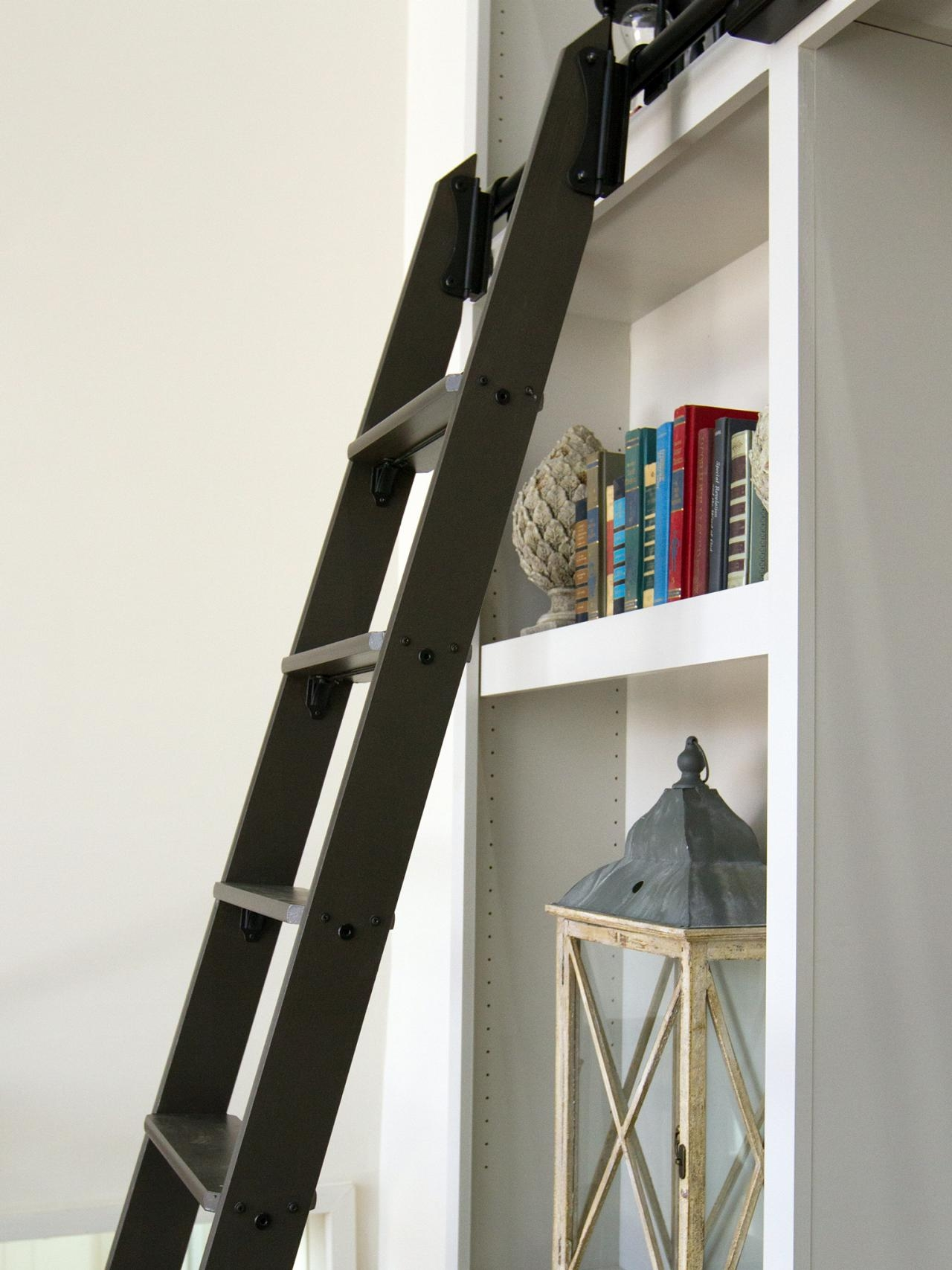 Extraordinary Ladder Closet Roselawnlutheran With Regard To Sliding Library Ladder (#6 of 15)