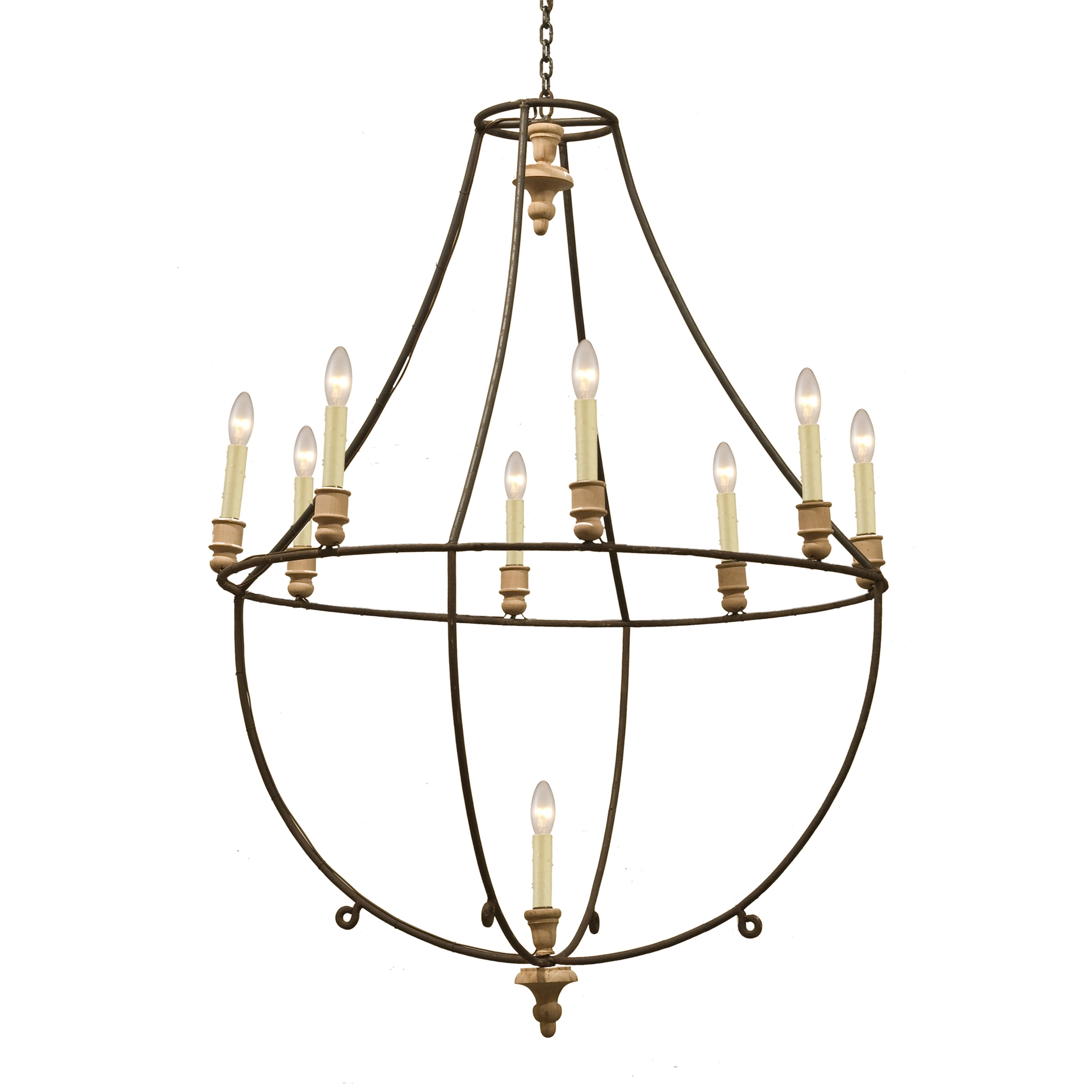 Popular Photo of Large Iron Chandelier