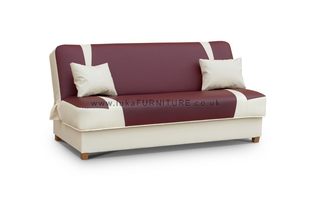 Fabric Sofa Beds Uk Newriveracademy Throughout Leather Sofa Beds With Storage (#5 of 15)