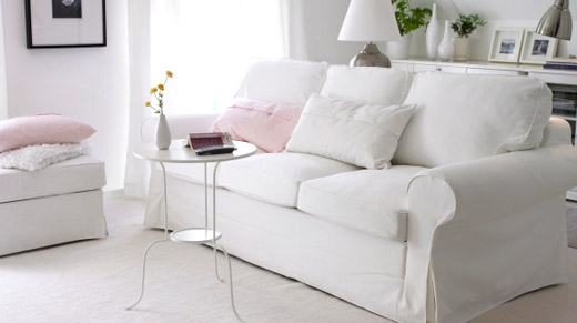 Fabric Sofa White Ikea Feel Like Home Pinterest Design Within White Fabric Sofas (#6 of 15)