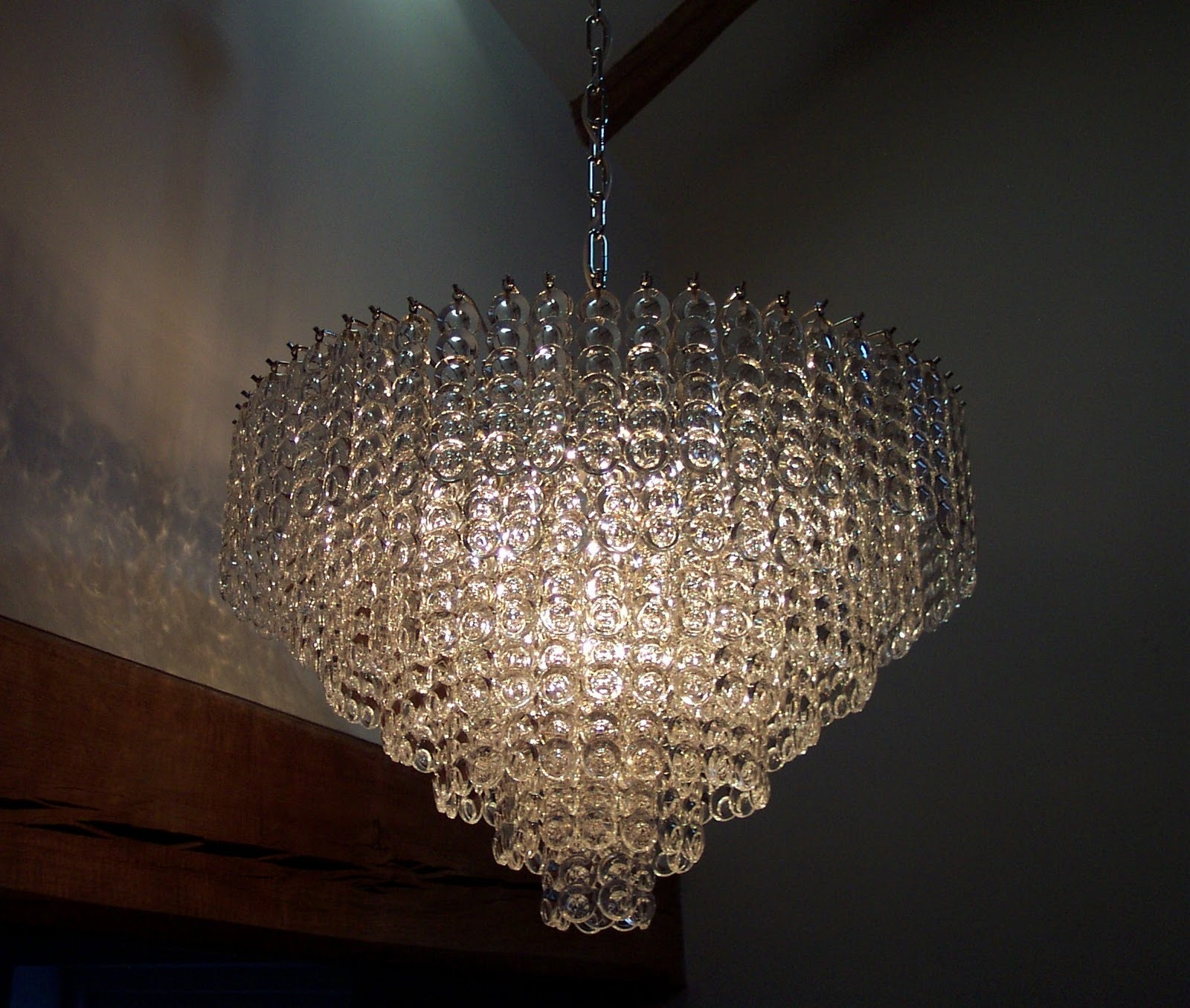 Fabulous Chain Chandelier Lighting Am3631 Large Billowing Intended For Large Glass Chandelier (#3 of 12)