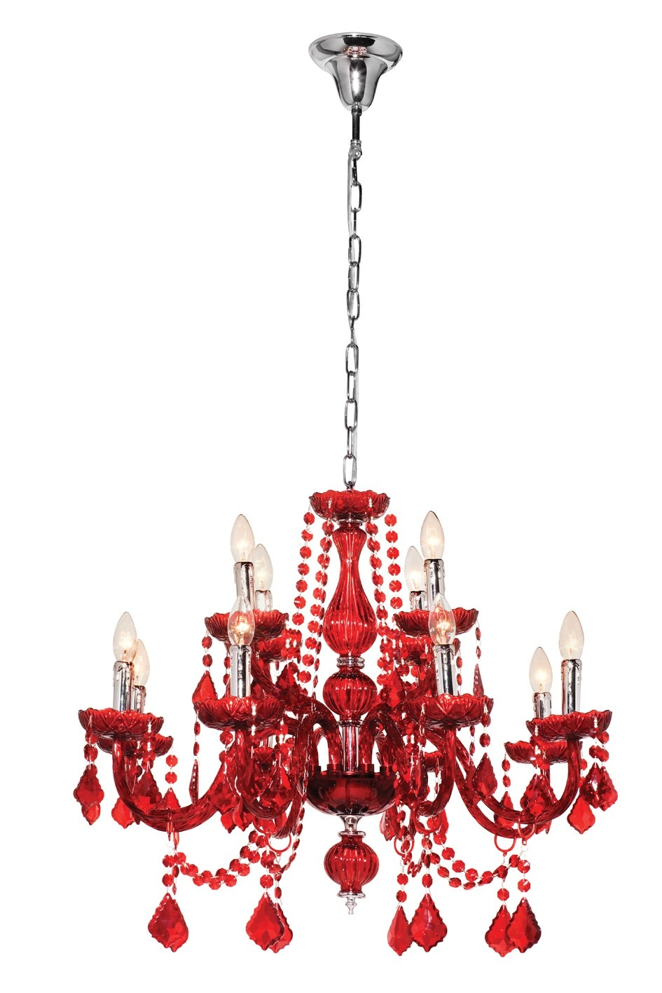 Fabulous Red Chandelier On Modern Home Interior Design Ideas With With Regard To Modern Red Chandelier (#4 of 12)