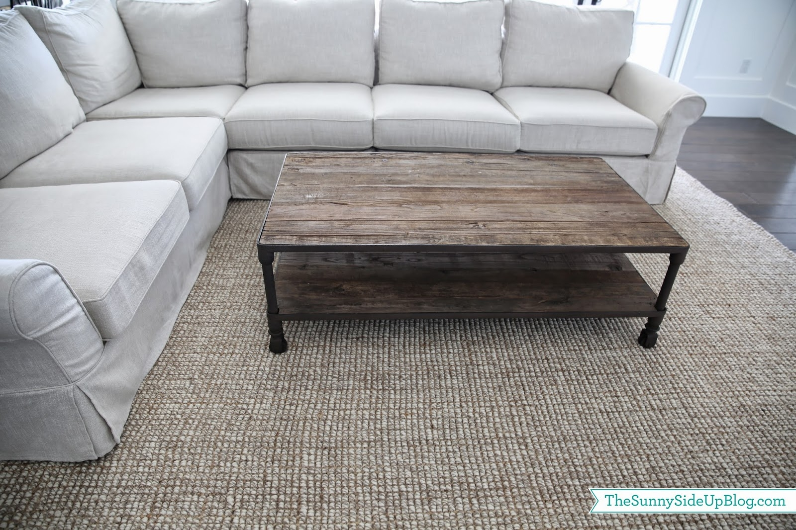 Family Room Decor Update The Sunny Side Up Blog With Regard To Wool Jute Area Rugs (#5 of 15)