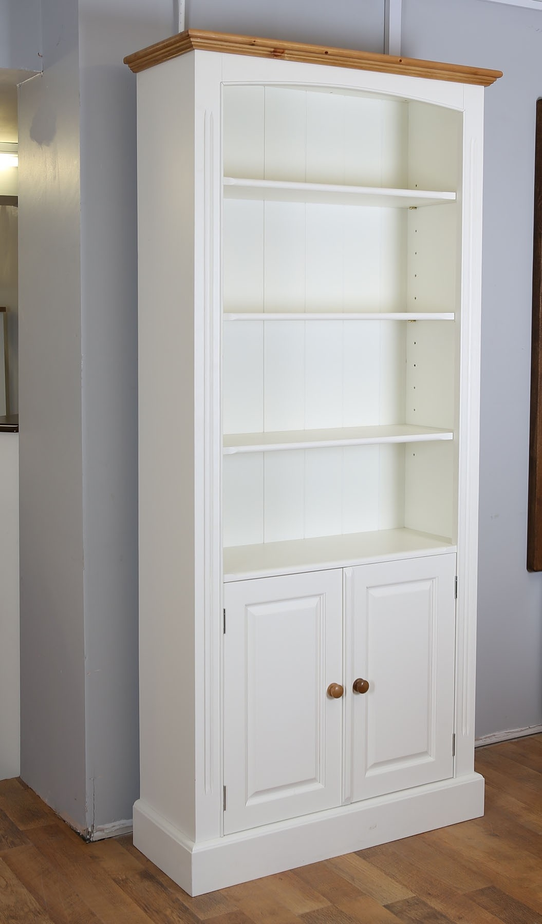 Farrow And Ball Painted Cupboard Bookcase In 4 Sizes With Regard To Bookcase With Cupboard (View 8 of 15)