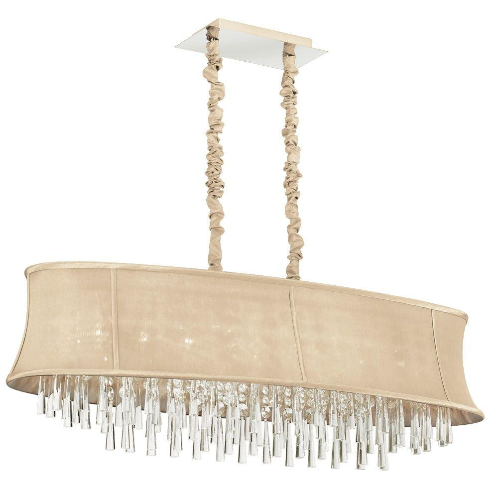 Filament Design Minta 8 Light Polished Chrome Chandelier With Within Cream Chandelier (#5 of 12)