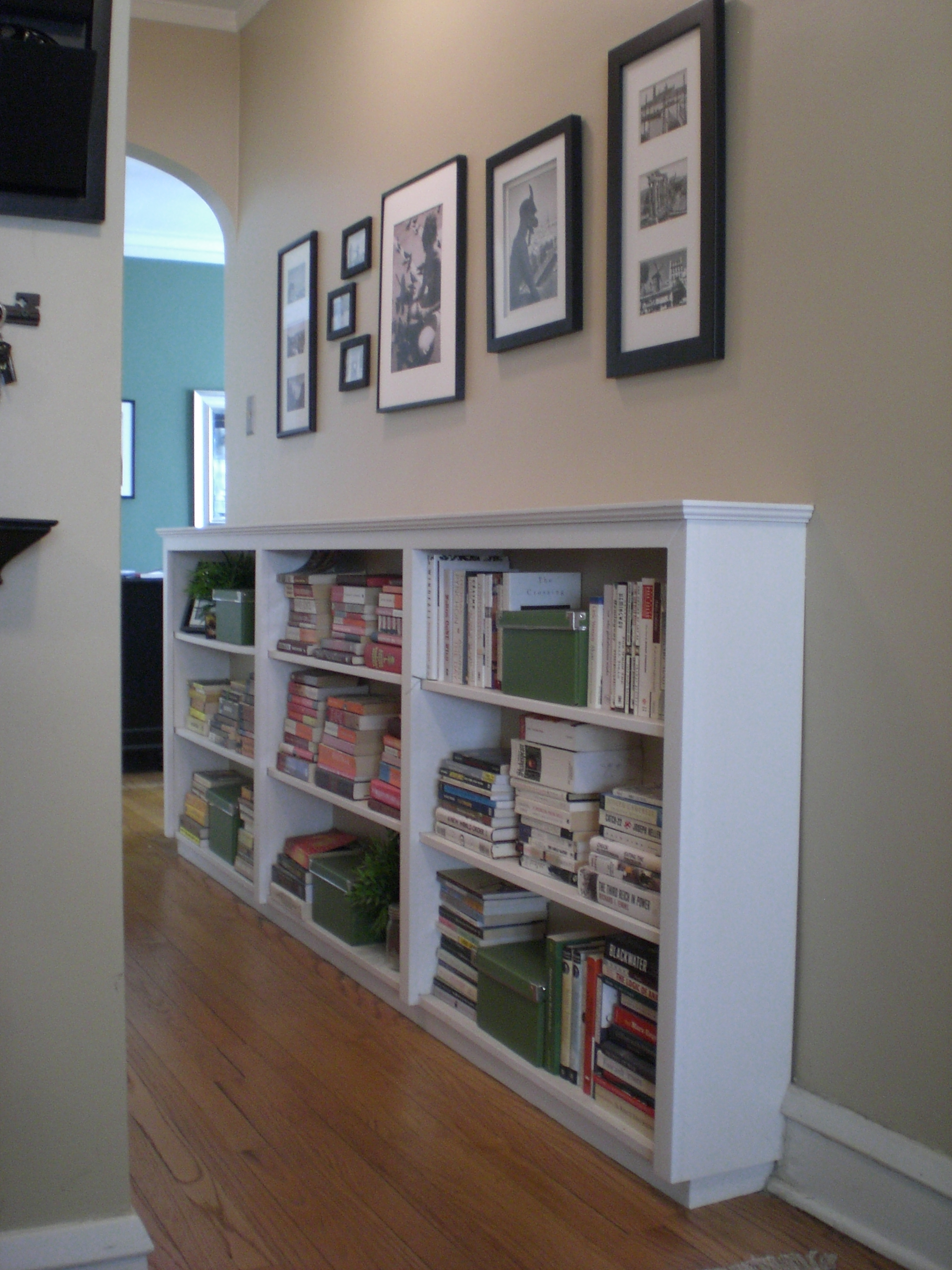 Finding Space Hallway Bookcases In Built In Bookshelf Kits (#10 of 15)