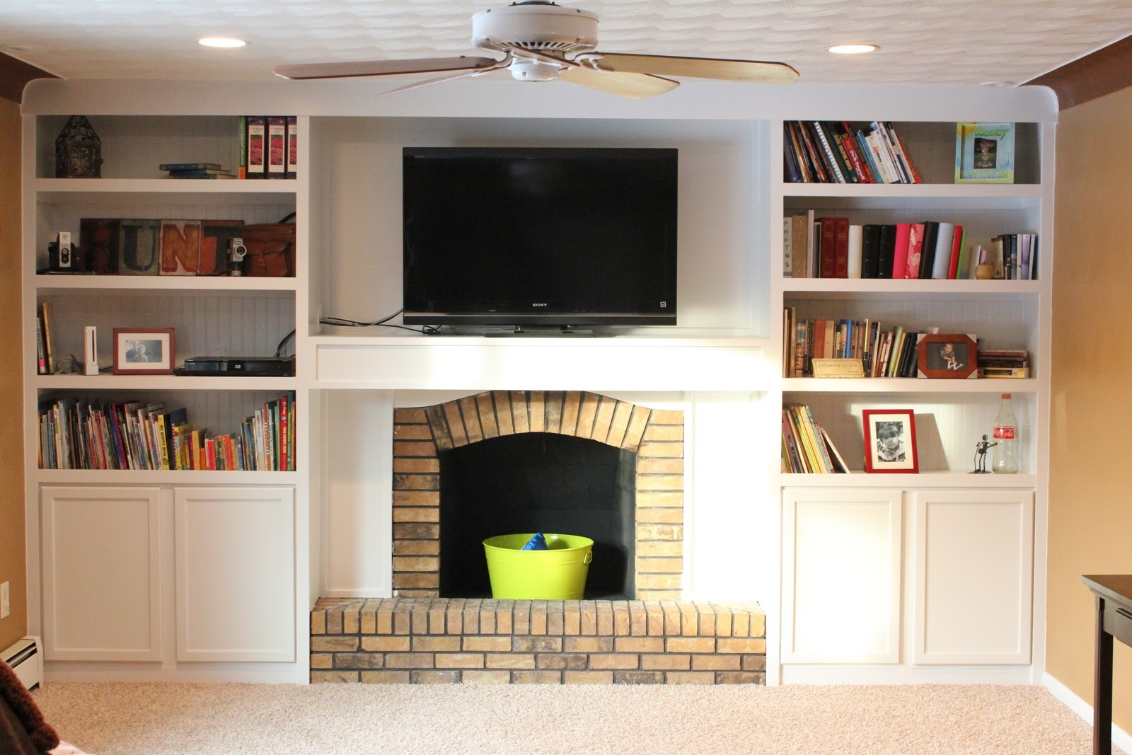 Fireplace Remodel With Built In Bookshelves Book Shelves For Bookcase With Tv Space (#9 of 15)