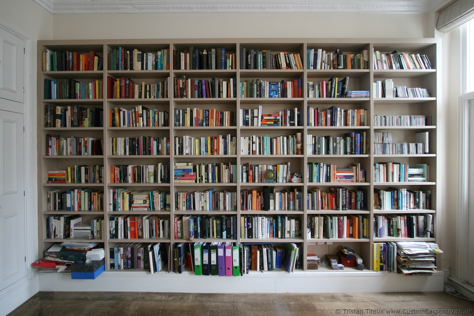 First Bespoke Fitted Bookcase I Ever Built Empatika Throughout Fitted Bookshelves (#6 of 15)