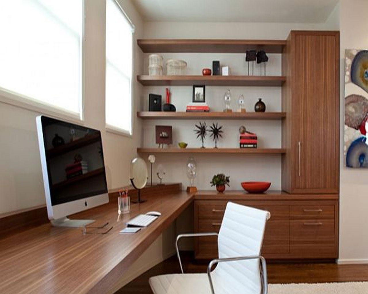 Fit A Small Office In Your Small Home Office Designs And Modern Throughout Home Study Furniture (View 5 of 15)