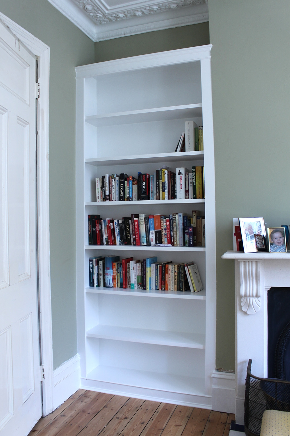 Fitted Alcove Bookcase With Lumilum Warm White Led Strip Lights Pertaining To Fitted Bookshelves (View 7 of 15)