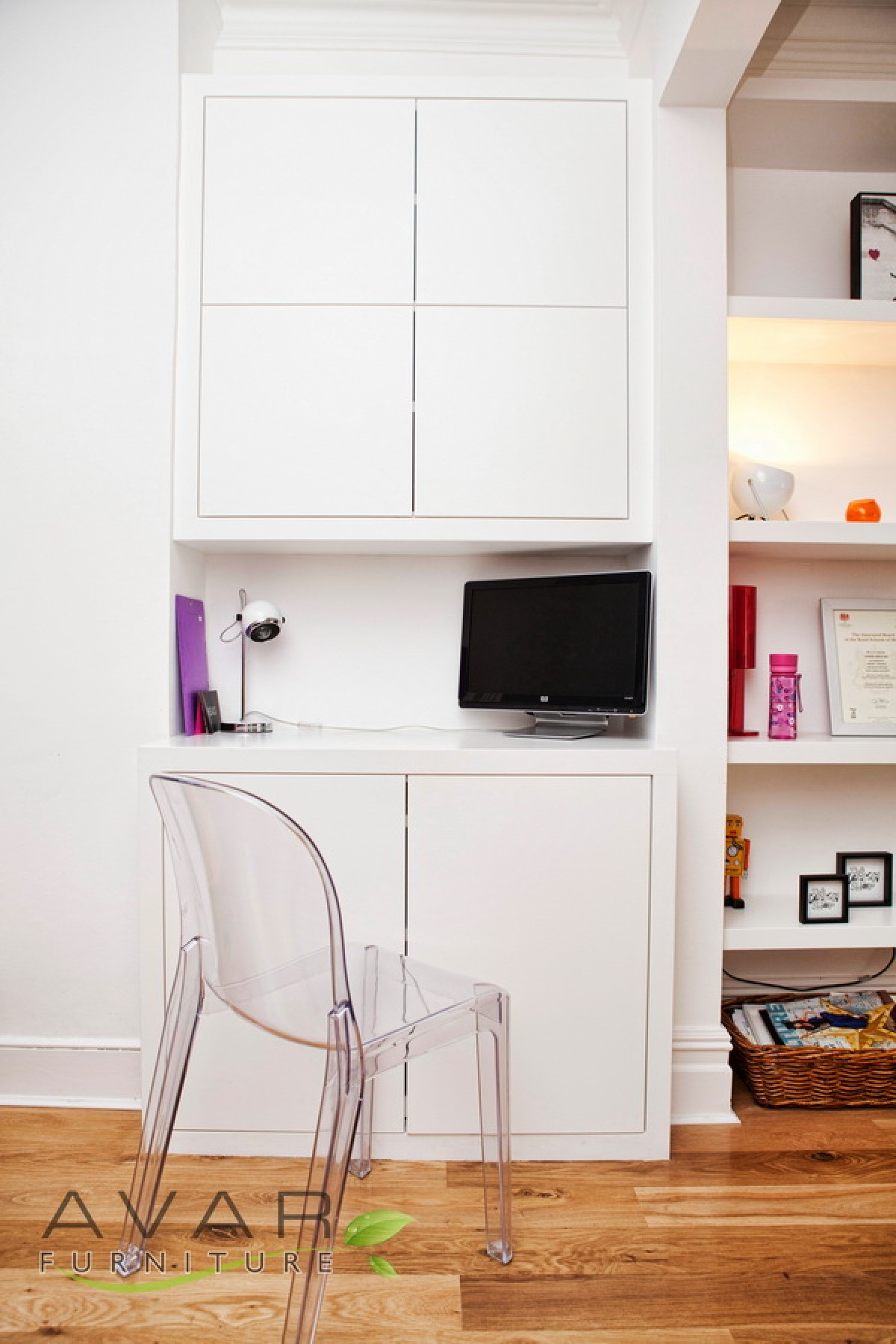 Fitted Alcove Units Built In Cupboards From Avar Furniture Within Study Cupboards (#5 of 12)