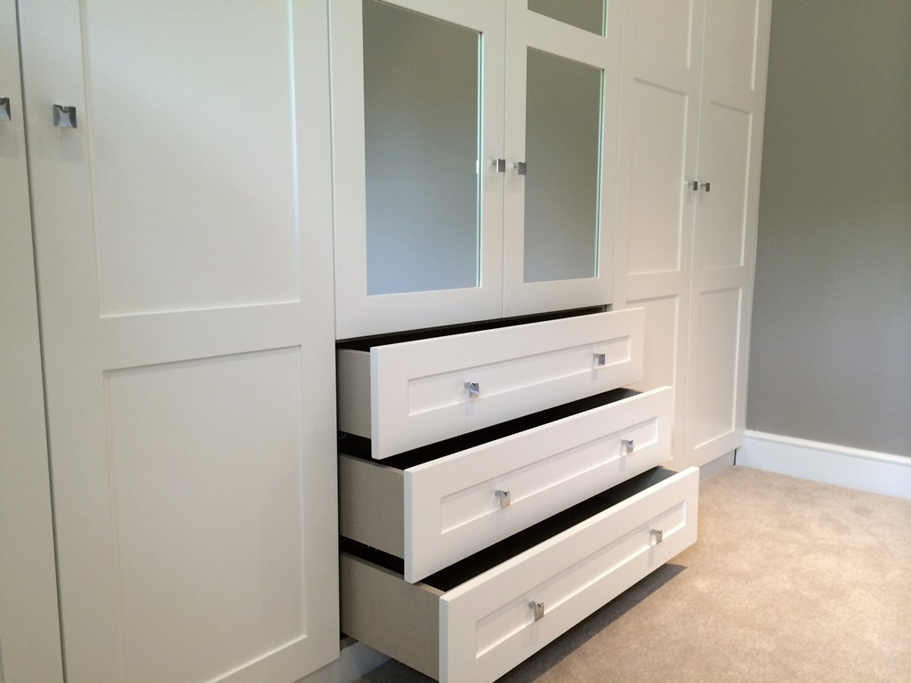 Fitted Bedrooms Built In Wardrobes London Bespoke Interiors With Drawers For Fitted Wardrobes (#7 of 15)
