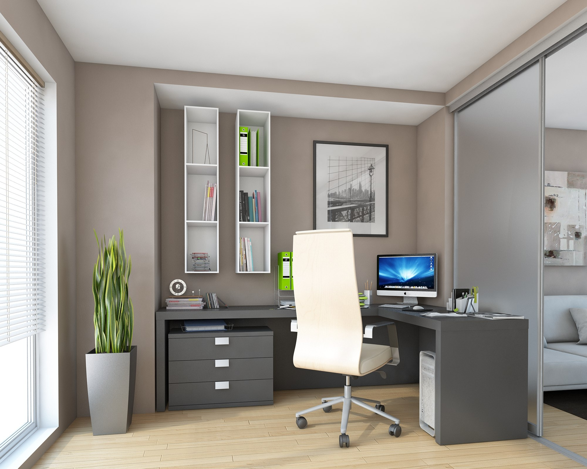 Fitted Home Office Furniture 8446 With Fitted Study Furniture (#7 of 15)