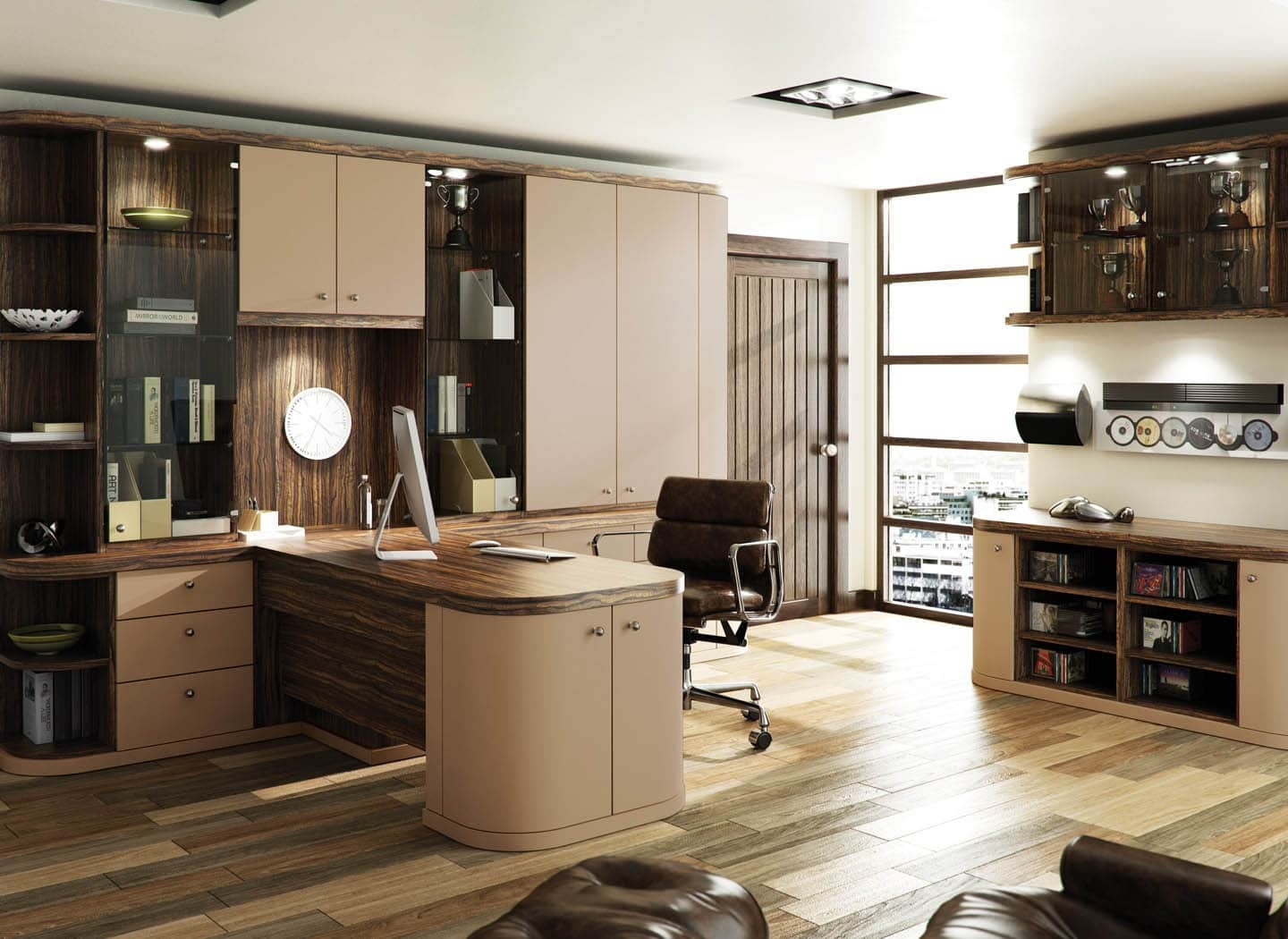 Fitted Home Office Furniture That Makes Work A Pleasure In Fitted Office Furniture (#7 of 15)