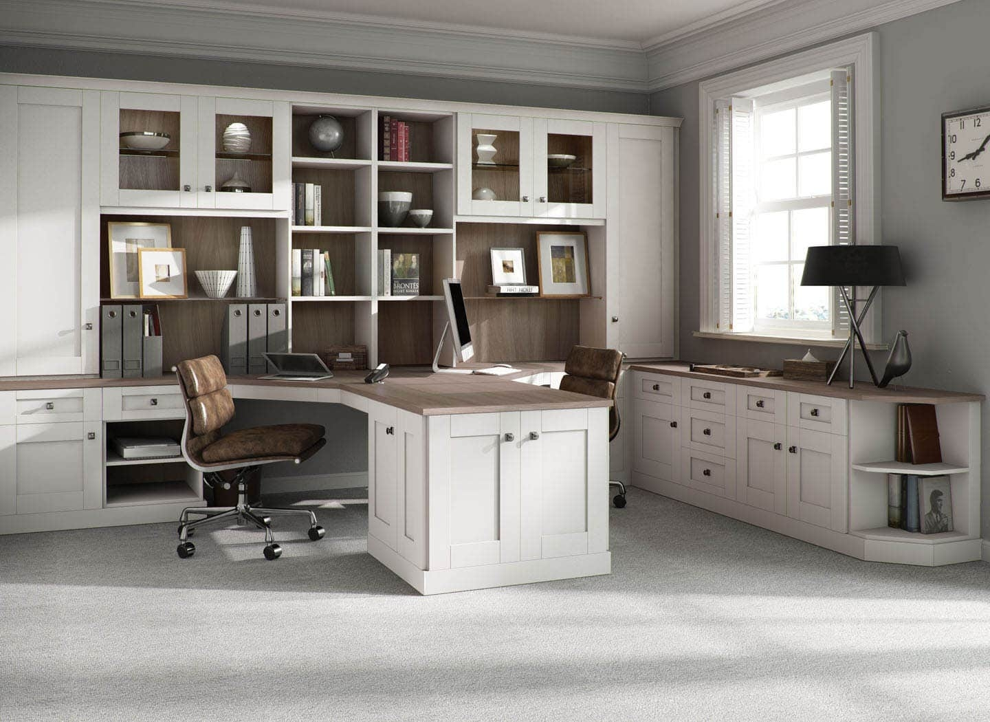 Fitted Home Office Furniture That Makes Work A Pleasure In Fitted Study Furniture (#8 of 15)