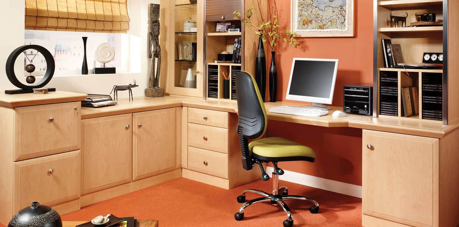 Fitted Home Office Furniture That Makes Work A Pleasure Inside Fitted Study Furniture (#9 of 15)