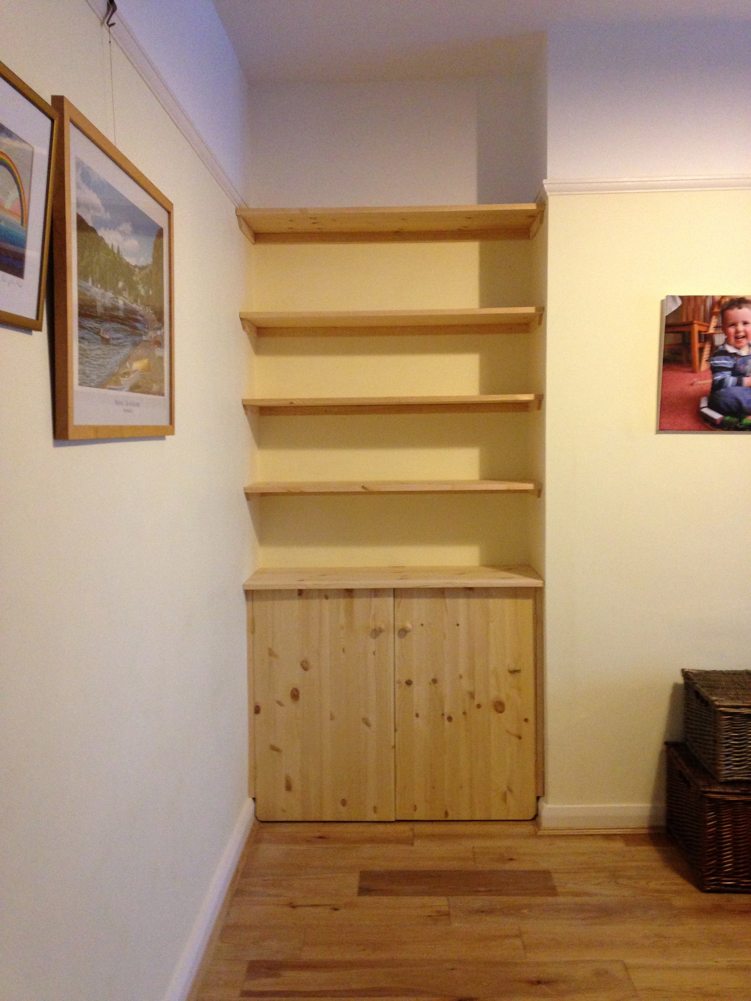 Fitted Shelving Cupboards And Flooring P D Carpentry Building Inside Built In Cupboard Shelving (View 11 of 15)