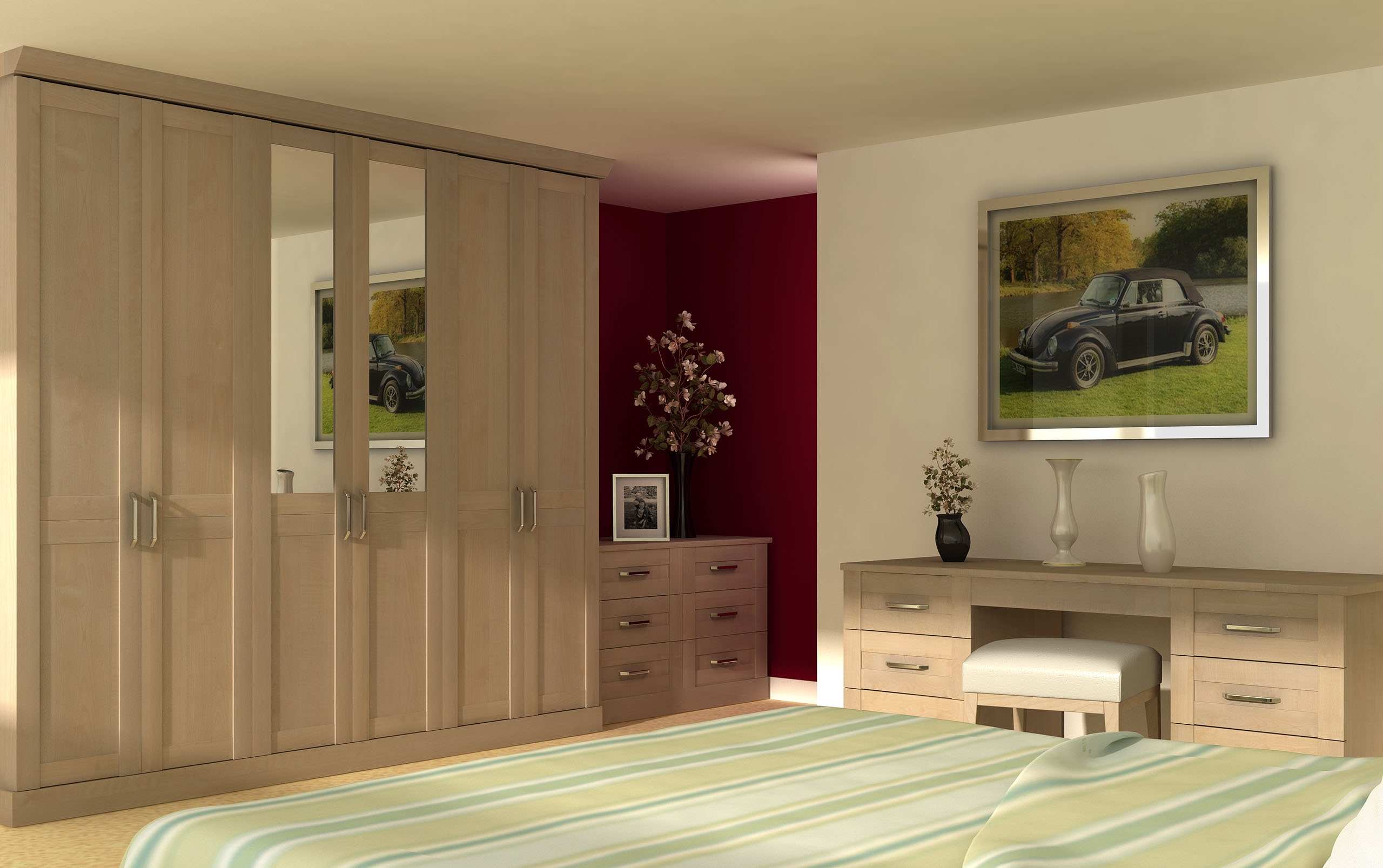 Fitted Sliding Wardrobes Excellent Mirrored Fitted Wardrobes Inside Solid Wood Built In Wardrobes (View 8 of 15)