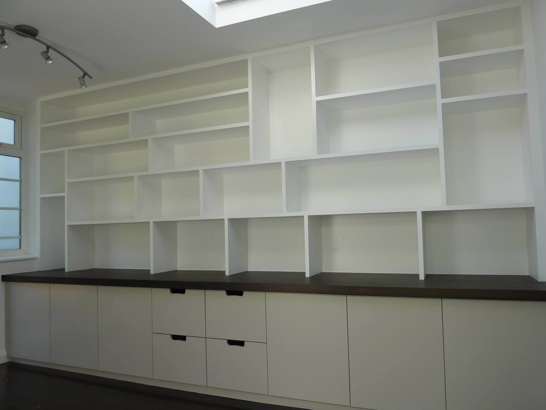 Fitted Study Cabinetry Handmade Peter Henderson Furniture For Office Wall Cupboards (#3 of 12)