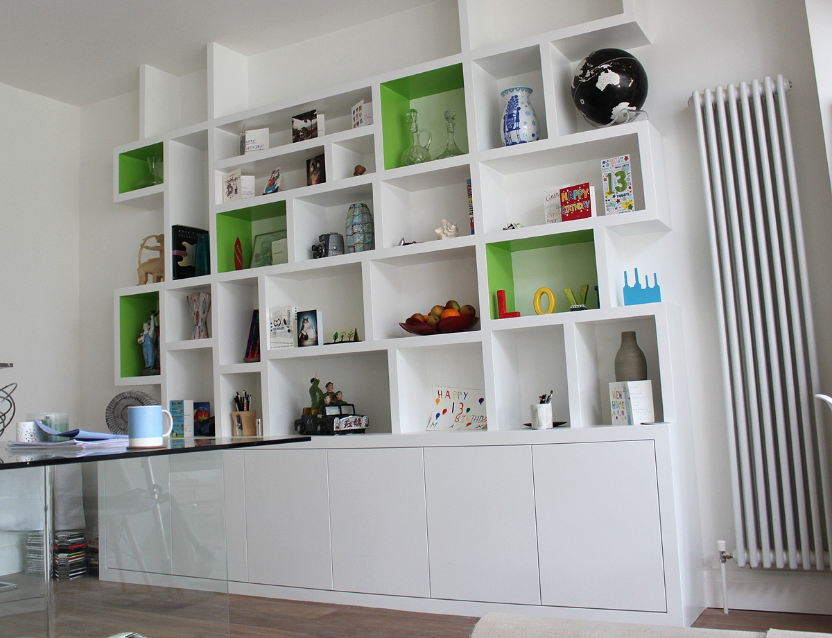 Fitted Wardrobes Bookcases Shelving Floating Shelves London In Fitted Book Shelves (#8 of 15)