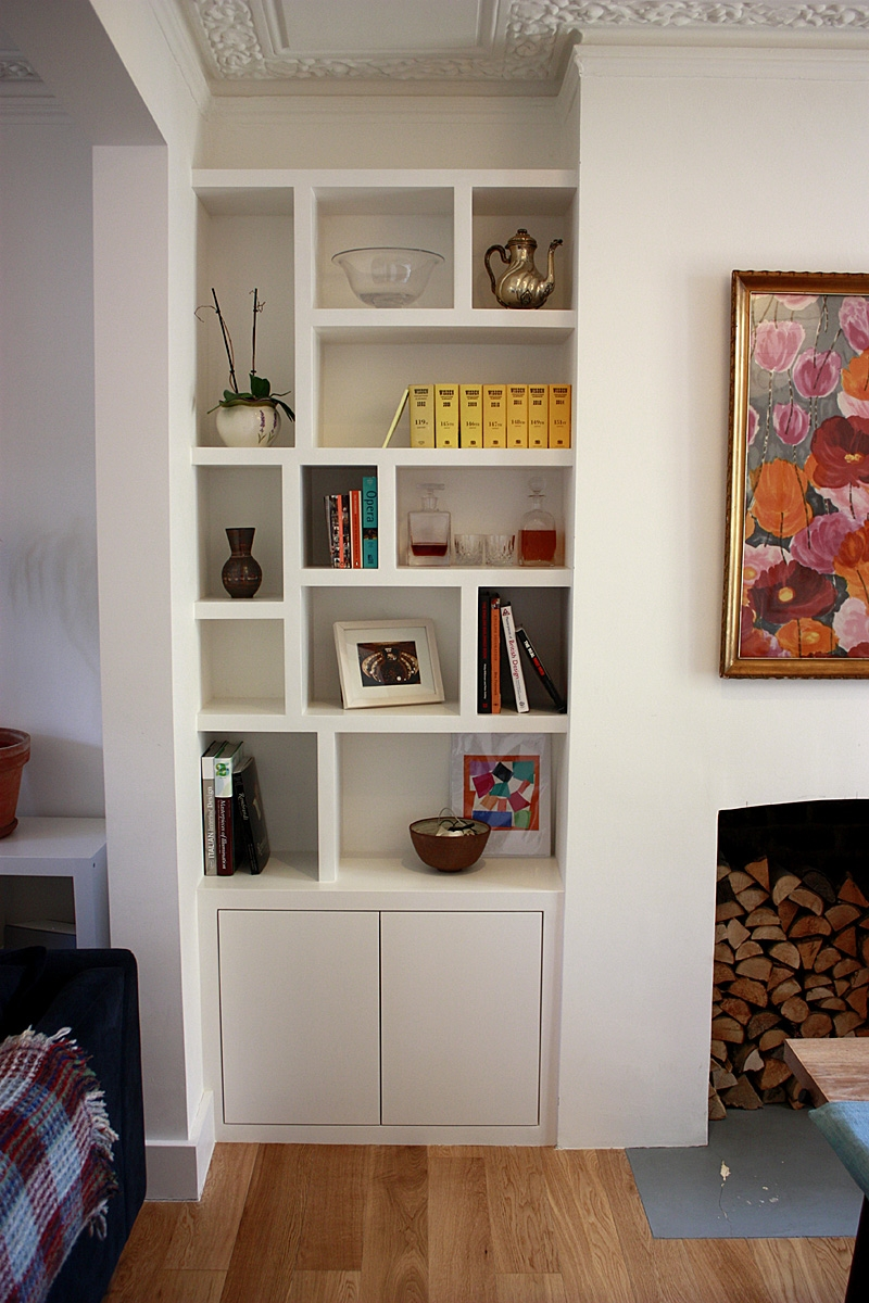 Fitted Wardrobes Bookcases Shelving Floating Shelves London In Living Room Fitted Cabinets (#11 of 15)