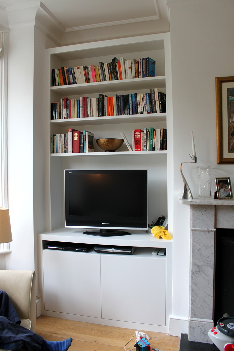 Fitted Wardrobes Bookcases Shelving Floating Shelves London Within Bookcase With Tv Shelf (#7 of 15)