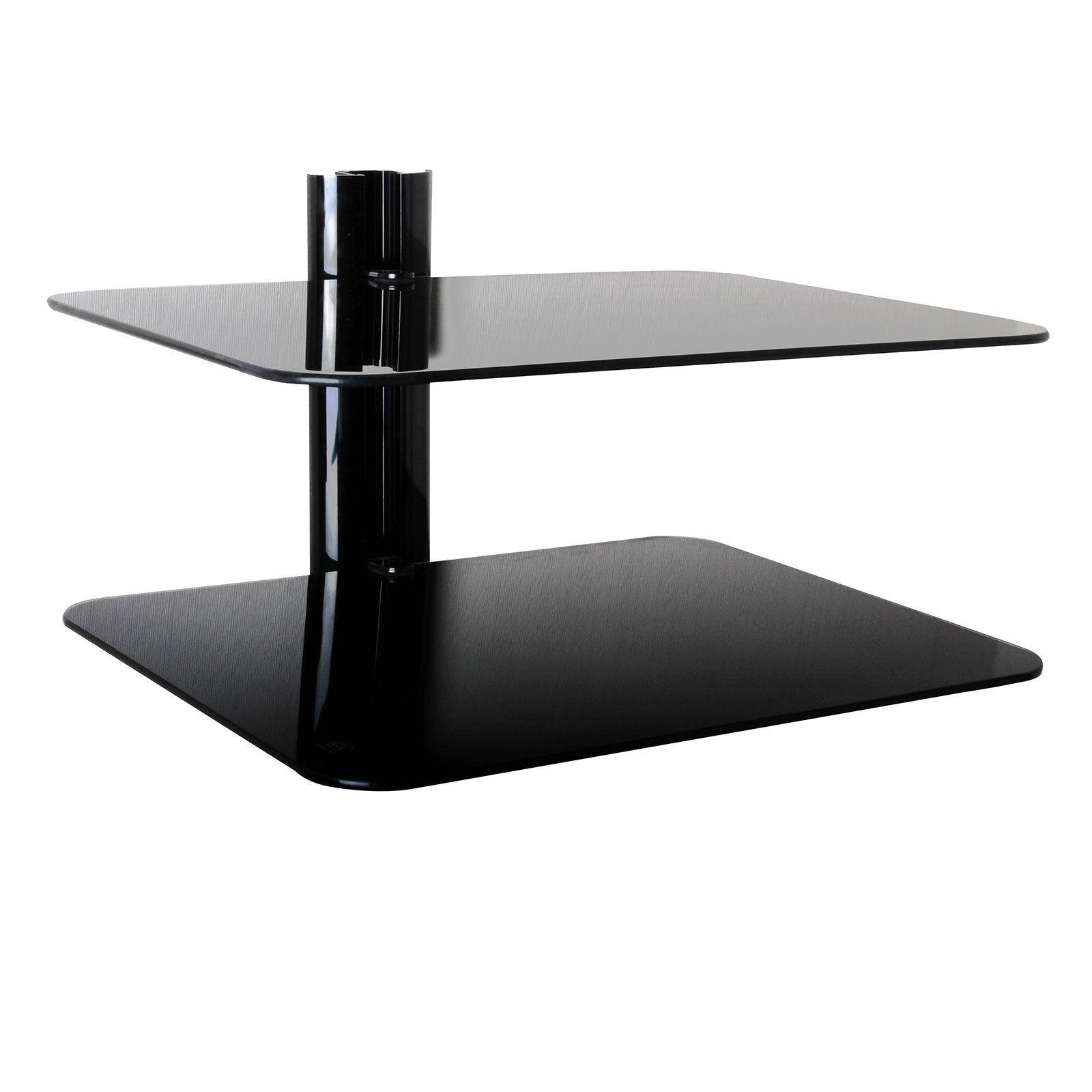 Floating Black Glass Shelves Gc810 Home Shelves Pertaining To Floating Black Glass Shelves (#7 of 12)